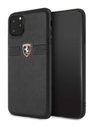 Ferrari Apple iPhone 11 Pro Max Off Track Grained Leather Mobile Phone Case Cover, Black