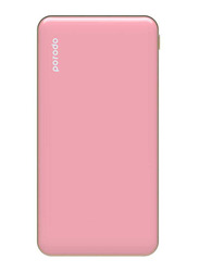 Porodo 10000mAh Super Slim Fashion Series PD Power Bank with USB Type-C Input, Pink