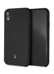 Maserati Apple iPhone XR Silicone Mobile Phone Hard Back Case Cover, Black