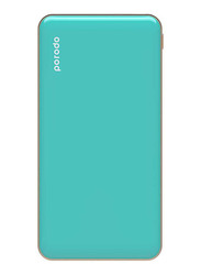 Porodo 10000mAh Super Slim Fashion Series PD Power Bank with USB Type-C Input, Tiffiny Blue