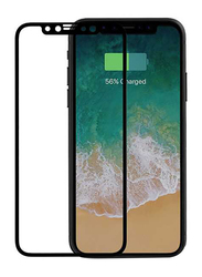 Porodo Apple iPhone X/XS 3D Full Covered Glass Screen Protector, Black