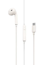 Porodo Mono Type C In-Ear Earphones, White
