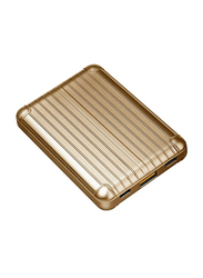 Viva Madrid 8000mAh Vimax Air Fast Charging Power Bank with USB Type-A/USB Type-C/Micro-USB Input, Gold
