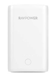 RAVPower 10050mAh Power Bank with iSmart Technology, White