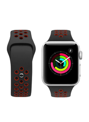 Porodo Apple Watch 44mm/42mm Nike Replacement Watch Band, Black/Red