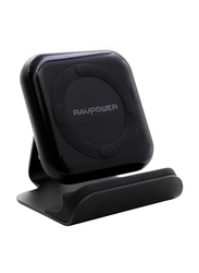Rav Power Quick Charge 3.0 Fast Wireless Charging Pad, with Stand, Black