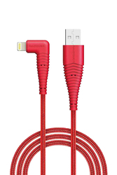 Rav Power 3-Feet Nylon Braided Lightning Cable, Easy Charging USB A Male to Lightning, Exceptional Tensile Strength for Smartphones/Tablets, Red