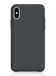 White Diamonds Apple iPhone X/XS Fitness Mobile Phone Back Case Cover, Dark Gray