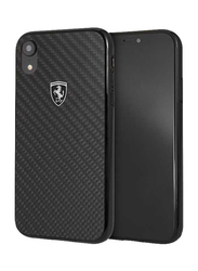 Ferrari Apple iPhone XR Heritage Real Carbon Hard Back Case, Black