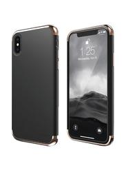 Elago Apple iPhone X Empire Plastic Back Case, Rose Gold and Black