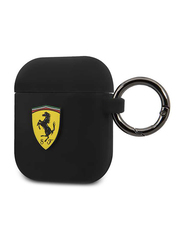 Ferrari Scuderia Silicone Case for Apple AirPods 1/2 with Ring, Black