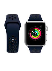 Porodo Apple Watch 44mm/42mm Nike Replacement Watch Band, Dark Blue/Black