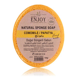 Suds Enjoy Camomile Natural Sponge Soap, 125 gm