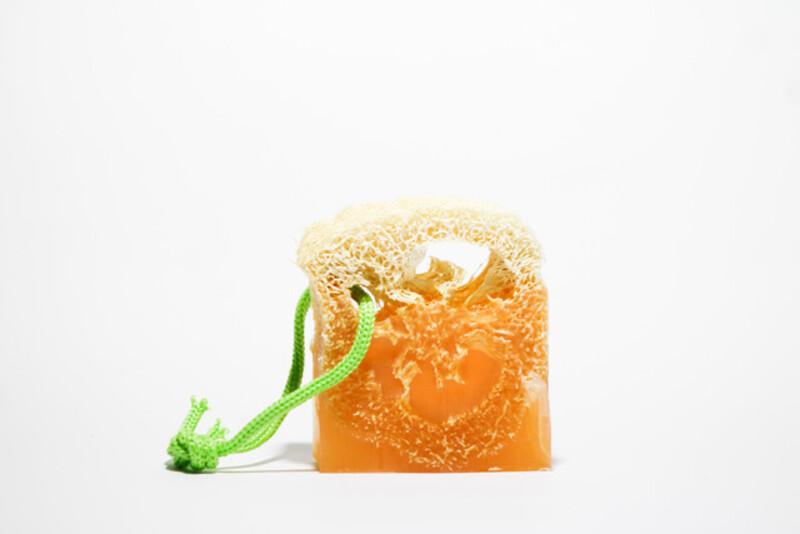 Suds Enjoy Pumpkin Loofah Glycerin Natural Soap, 180 gm