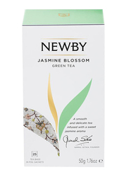Newby Jasmine Blossom Green Tea, 25 Tea Bags, 50g
