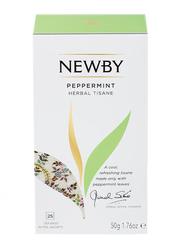 Newby Peppermint Herbal Tisane, 25 Tea Bags, 50g