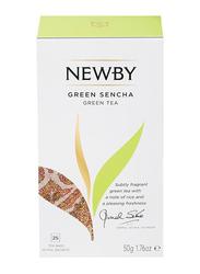Newby Green Sencha Green Tea, 25 Tea Bags, 50g