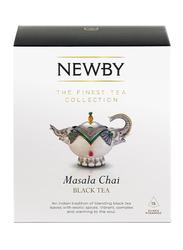 Newby Masala Chai Black Tea, 15 Silken Pyramids, 37.5g