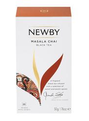 Newby Masala Chai Black Tea, 25 Tea Bags, 50g