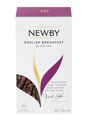 Newby English Breakfast Black Tea, 25 Tea Bags, 50g
