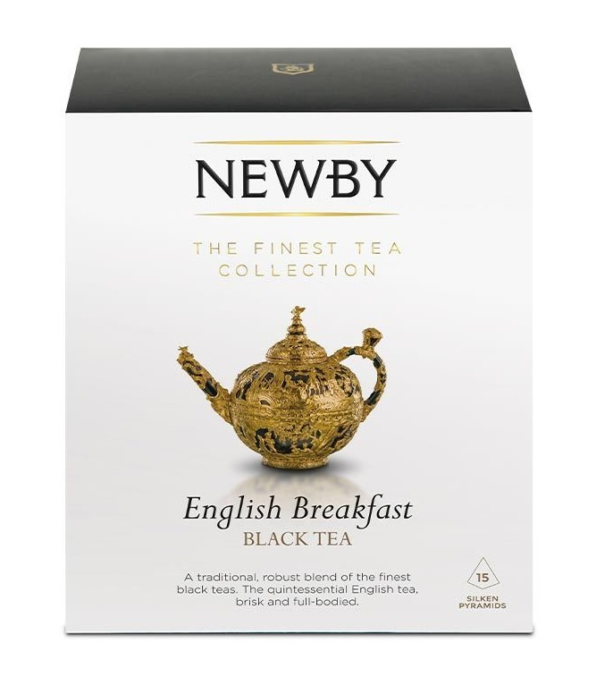 Newby English Breakfast Black Tea, 15 Silken Pyramids, 37.5g