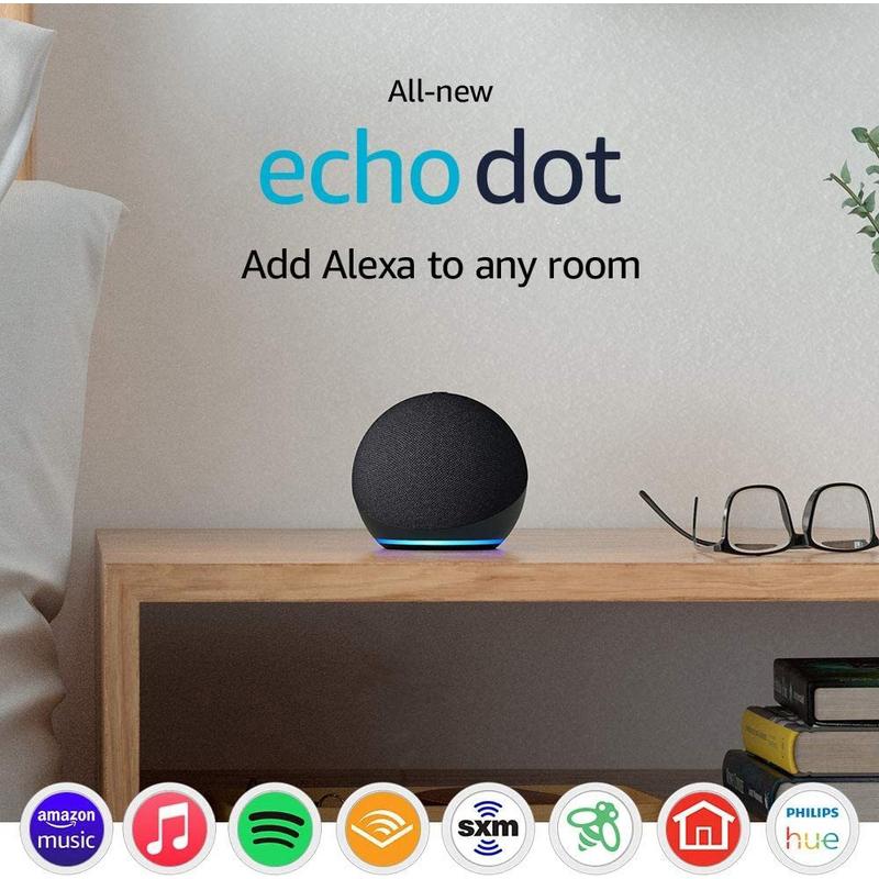 Amazon Echo Dot (4th Generation) Smart Speaker with Alexa, Charcoal Grey
