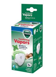 Vicks Plug-In Comforting Menthol and Essential Oils Vaporizer Humidifiers, VH1700E-UK, White
