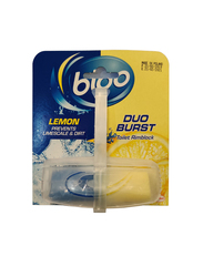 Bloo Duo Burst Lemon Toilet Rimblock, 40g