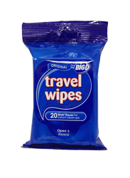 Big D Original Travel Wipes, 20 Sheets