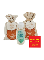 The Camel Soap Factory Castile Collection Rosemary & Tea Tree Natural Hand Sanitizer Pack, 3 Pieces