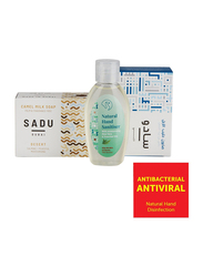 The Camel Soap Factory Sadu Collection Downtown Natural Hand Sanitizer Pack, 3 Pieces