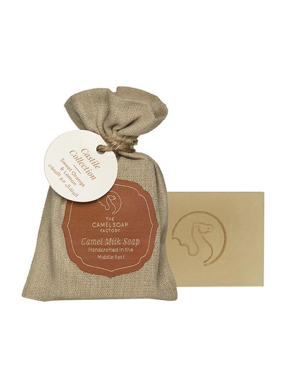 The Camel Soap Factory Castile Collection Sweet Orange & Lemon Handmade Soap Bar, 95gm