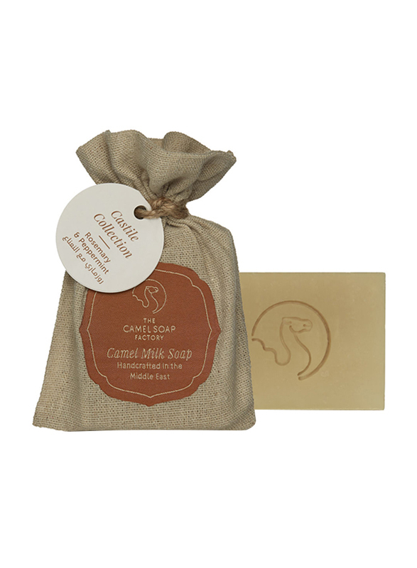 The Camel Soap Factory Castile Collection Rosemary & Peppermint Handmade Soap Bar, 95gm