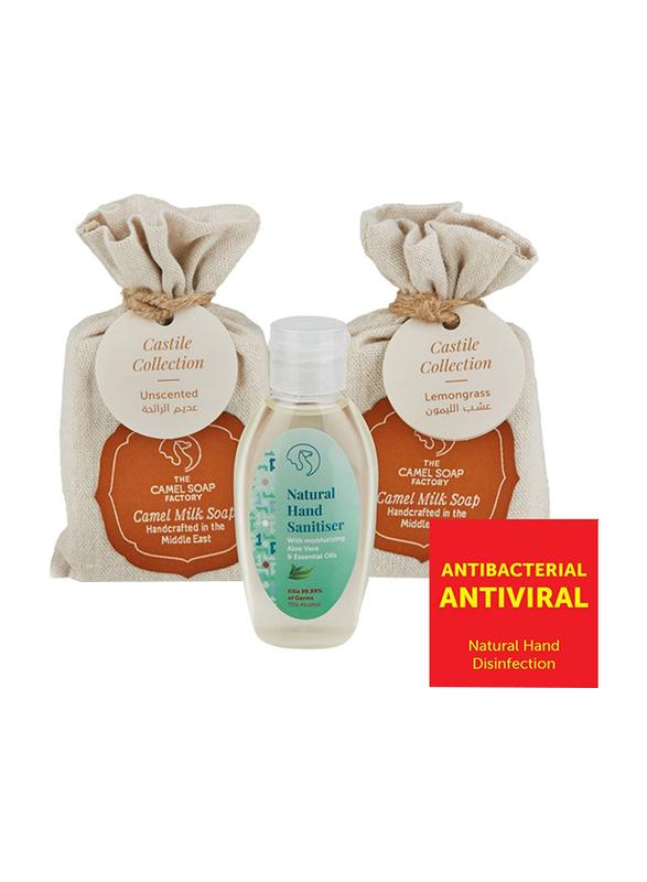 The Camel Soap Factory Castile Collection Lemongrass Natural Hand Sanitizer Pack, 3 Pieces