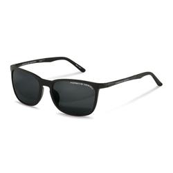 Porsche Design Polarized Full-Rim Square Black Sunglasses for Women, Black Lens, P8673 A, 57/18/140