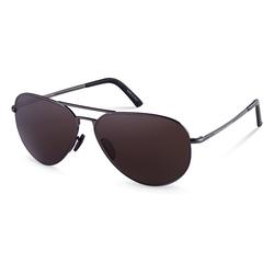 Porsche Design Full-Rim Aviator Dark Grey Sunglasses for Women, Brown Lens, P8508 B, 60/12/140