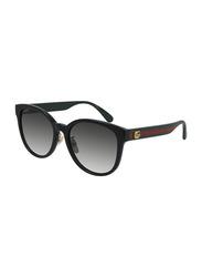 Gucci Full-Rim Cat Eye Black Sunglasses for Women, Grey Lens, GG0854SK 001, 56/19/145