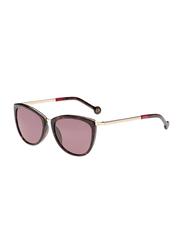 Carolina Herrera Full-Rim Butterfly Havana Sunglasses for Women, Pink Lens, SHE046 300Y, 54/18/135