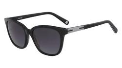 Nine West Full-Rim Cat Eye Black Sunglasses for Women, Black Lens, NW618S 001, 56/18/135