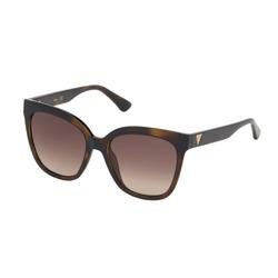Guess Full-Rim Square Dark Havana Sunglasses for Women, Gradient Brown Lens, GU7612F 52F, 55/18/145