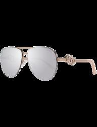 Guess Full-Rim Aviator Rose Gold Sunglasses for Women, Mirrored Purple/Gradient Pink Lens, GF6054 28U, 59/14/145