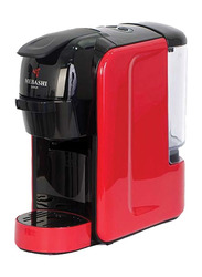 Mebashi Japan 3-in-1 Multi Capsule Coffee Machine with Capsules, ME-CEM301, Red