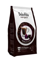 Dolce Vita Mokaccino Espresso & Hot Chocolate Coffee Capsules, Nespresso Compatible, 10 Capsules