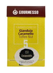 Gourmesso Gianduia Caramello Toffeenut Espresso Coffee Capsules, Nespresso Compatible, Intensity 5, 10 Capsules, 50gm