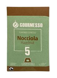Gourmesso Nocciola Hazelnut Espresso Coffee Capsules, Nespresso Compatible, Intensity 5, 10 Capsules, 50gm