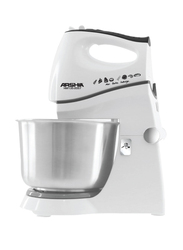 Arshia Hand Mixer with Bowl, 300W, HM135, White