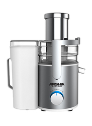 Arshia Juice Extractor with New Alu Handle, 800W, JE1401, White/Silver
