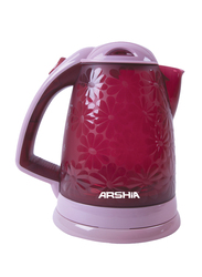 Arshia 1.8L Electric Plastic Kettle, EK602, Pink