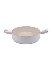 TVS 24cm Ho 2 Handle Skillet Pan, White