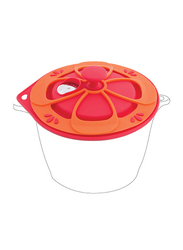 Arshia Silicone Intelligent Lid with Pot Mat, 56 x 28.5 x 31 cm, Red/Orange